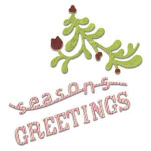 Sizzix Stanze Sizzlits Die Phrase Season`s Greetings