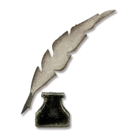 Sizzix Stanze Movers & Shapers Tim Holtz Mini Feather & Inkwell