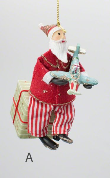Gisela Graham Old Time Santa on Parcel