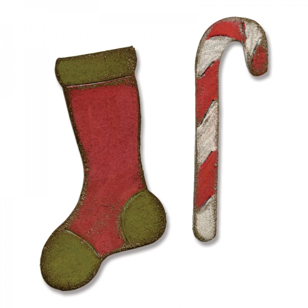 Sizzix Stanze Movers & Shapers die Mini Stocking & Candy Cane