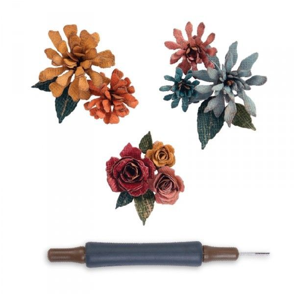 Thinlits Tiny Tattered Florals mit Quilling Tool
