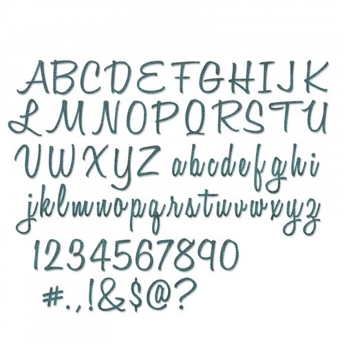 Sizzix Thinlits Alphanumeric Script (1In Tall)