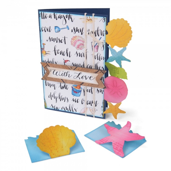 BIGZ XL Stanze Card & Mini Cards, Seashells & Starfish