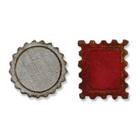 Sizzix Stanze Movers & Shapers die Mini Bottle Cap & Stamp