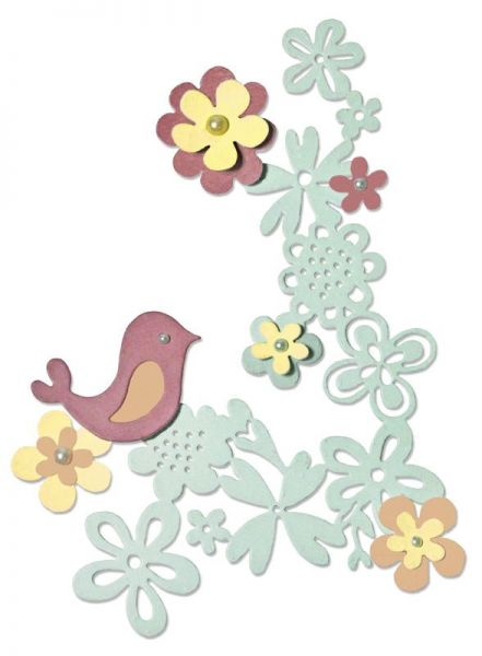 Sizzix Thinlits Floral Love