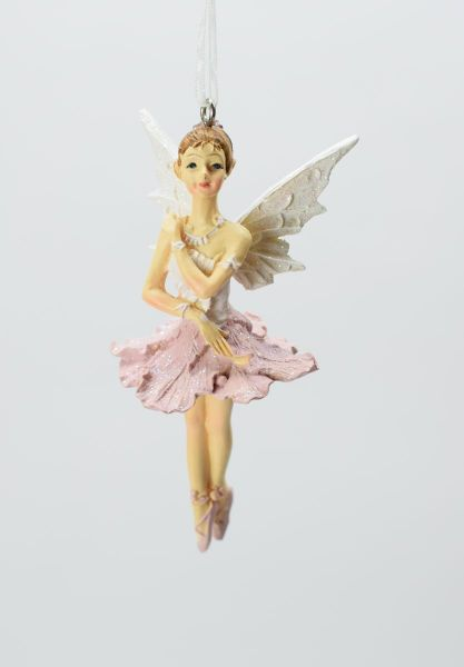 Gisela Graham White / Pink Hellebore Fairy Engel / Elfe / Fee