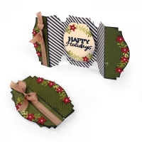 Thinlits Card Happy Holidays Fold A Long by Jen Long