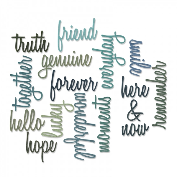 Tim Holtz Thinlits Friendship Words