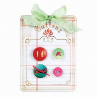 Sizzix BIGZ Button Card Embossing Folder