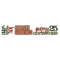 Stanze Decorativ Strip Stacked Words Christmas