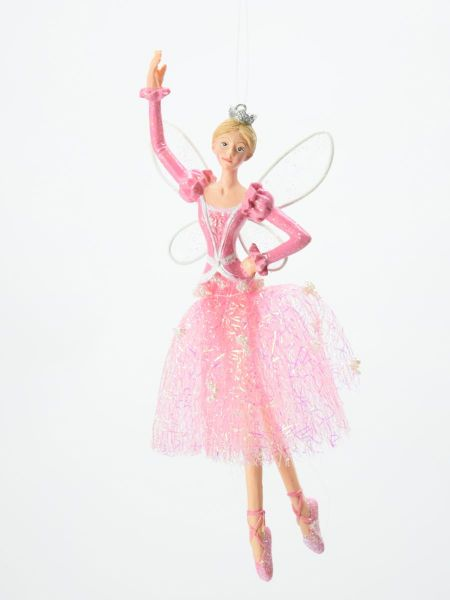 Gisela Graham Pink Ballerina Fairy with Crown