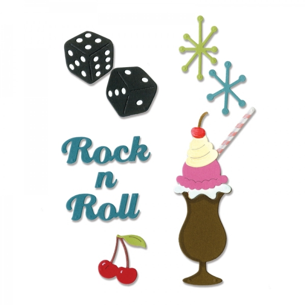 Sizzix Stanze Thinlits Rock`n Roll Soundae