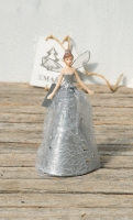 Gisela Graham Tree Top Silver Glitter Christbaumspitze