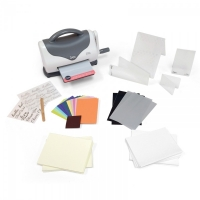 Sizzix Texture Boutique Embossing Maschine Starter Set White & Gray
