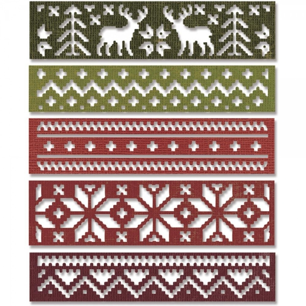 sizzix thinlits holiday knit 660981