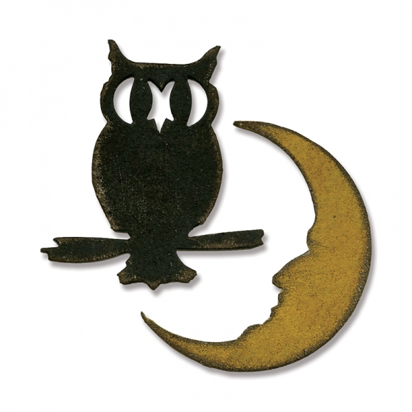 Sizzix Stanze Movers & Shapers die Mini Owl & Crescent Moon