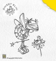 Clear Stamps Nellie Snellen Frog on Flower