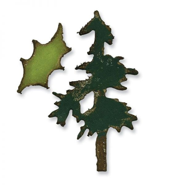 Sizzix Stanze Movers & Shapers die Mini Pine Tree Holly Set