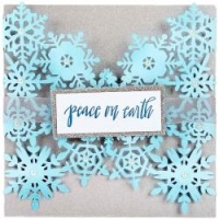 Sizzix Thinlits Snowflake Card