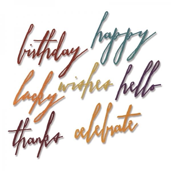 Sizzix Stanze Thinlits Handwritten Celebrate