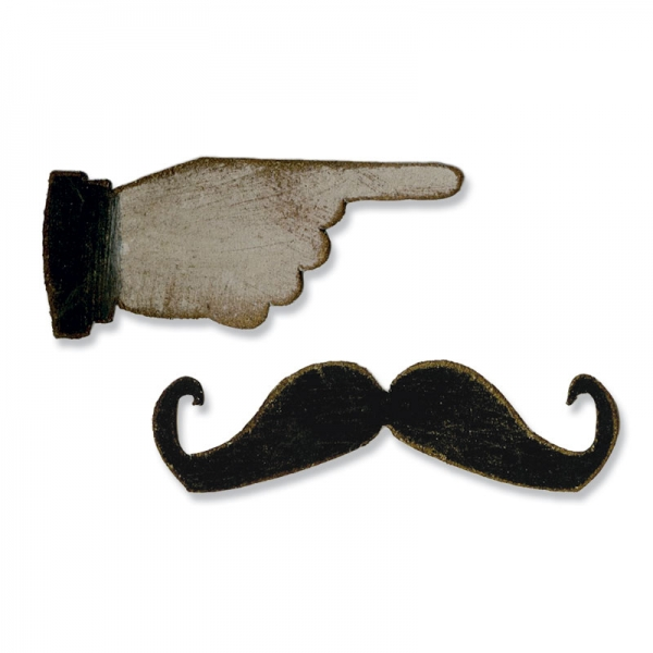 sizzix movers shapers mini mustache pointer finger 658562