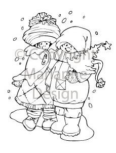 Clear Stamps Marianne Design Winterspaziergang